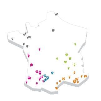 Implantations Fauché plan France